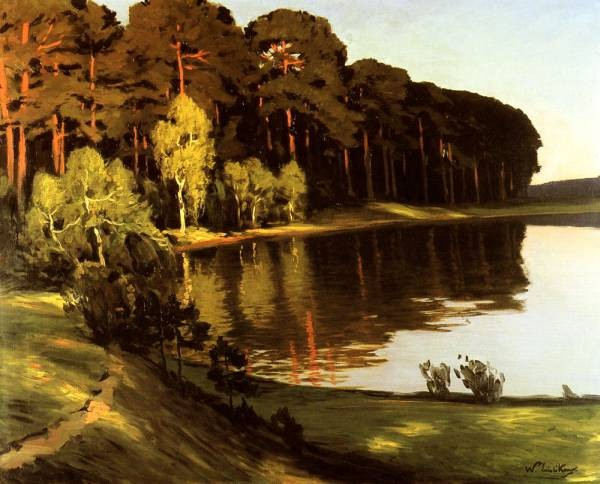 Riverscene with Forest Beyond
